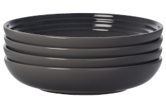 "Le Creuset Stoneware Set of (4) 8.5"" Pasta Bowls - Oyster"