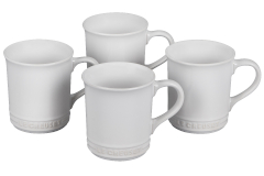 Le Creuset Stoneware Set of 4 Mugs - White