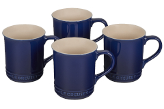 Le Creuset Stoneware Set of 4 Mugs - Indigo