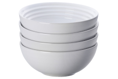 Le Creuset Stoneware Set of (4) 22 oz. Soup Bowls - White