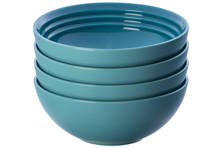 Le Creuset Stoneware Set of (4) 22 oz. Soup Bowls - Caribbean