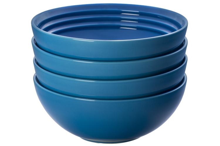 Le Creuset Stoneware Set of (4) 22 oz. Soup Bowls - Marseille