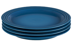 "Le Creuset Stoneware Set of (4) 10.5"" Dinner Plates - Marseille"