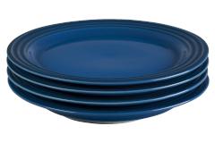 "Le Creuset Stoneware Set of (4) 8.5"" Salad Plates - Marseille"