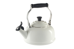 Le Creuset Enamel on Steel 1.7 Quart Whistling Tea Kettle - White