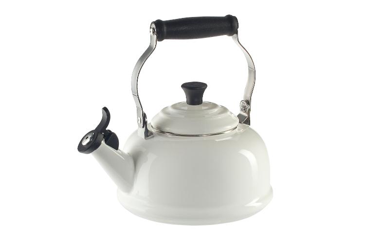 Le Creuset Enamel on Steel 1.7 Quart Whistling Tea Kettle - White