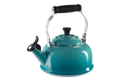 Le Creuset Enamel on Steel 1.7 Quart Whistling Tea Kettle - Caribbean
