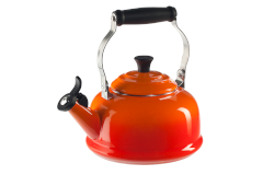 Le Creuset Enamel on Steel 1.7 Quart Whistling Tea Kettle - Flame