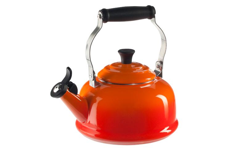 Le Creuset Enamel on Steel 1.7 Quart Whistling Tea Kettle - Flame