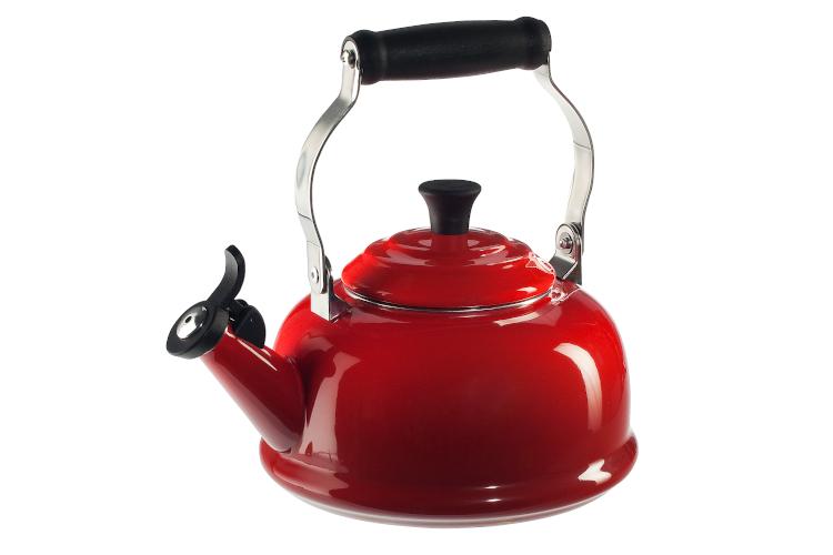 Le Creuset Enamel on Steel 1.7 Quart Whistling Tea Kettle - Cerise