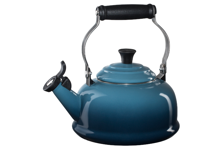 Le Creuset Enamel on Steel 1.7 Quart Whistling Tea Kettle - Marine