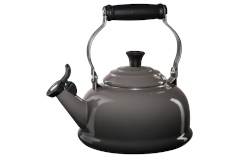 Le Creuset Enamel on Steel 1.7 Quart Whistling Tea Kettle -Oyster