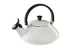 Le Creuset Enamel on Steel 1.6 Quart Zen Tea Kettle - White