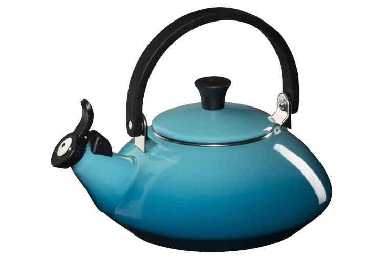 Le Creuset Enamel on Steel 1.6 Quart Zen Tea Kettle - Caribbean