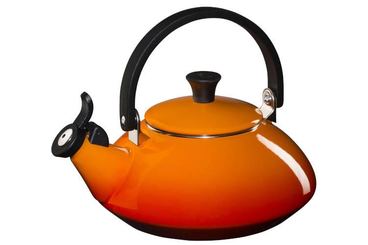 Le Creuset Enamel on Steel 1.6 Quart Zen Tea Kettle - Flame