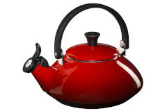 Le Creuset Enamel on Steel 1.6 Quart Zen Tea Kettle - Cerise