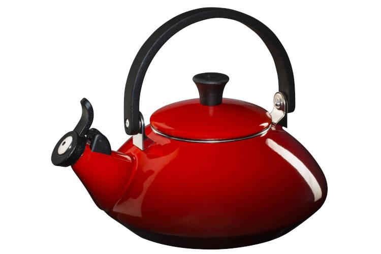 Le Creuset Enamel on Steel 1.6 Quart Zen Tea Kettle - Cerise