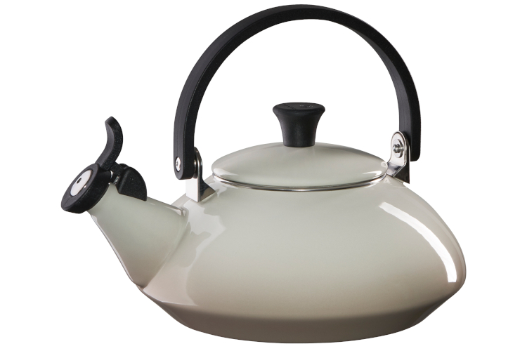 Le Creuset Enamel on Steel 1.6 Quart Zen Tea Kettle - Meringue