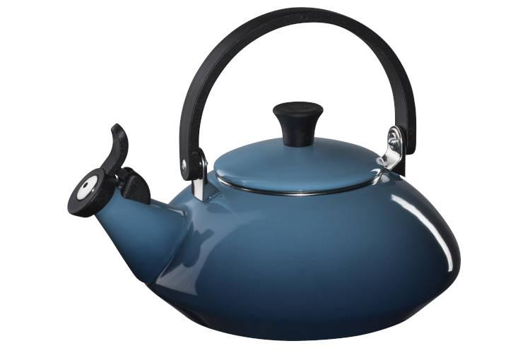 Le Creuset Enamel on Steel 1.6 Quart Zen Tea Kettle - Marine