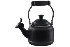 Le Creuset Enamel on Steel 1.25 Quart Demi Tea Kettle - Licorice