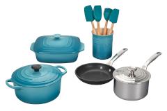 Le Creuset 12-Piece Mixed Material Cookware Set- Caribbean