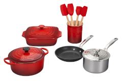 Le Creuset 12-Piece Mixed Material Cookware Set- Cerise