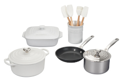 Le Creuset 12-Piece Mixed Material Cookware Set- White