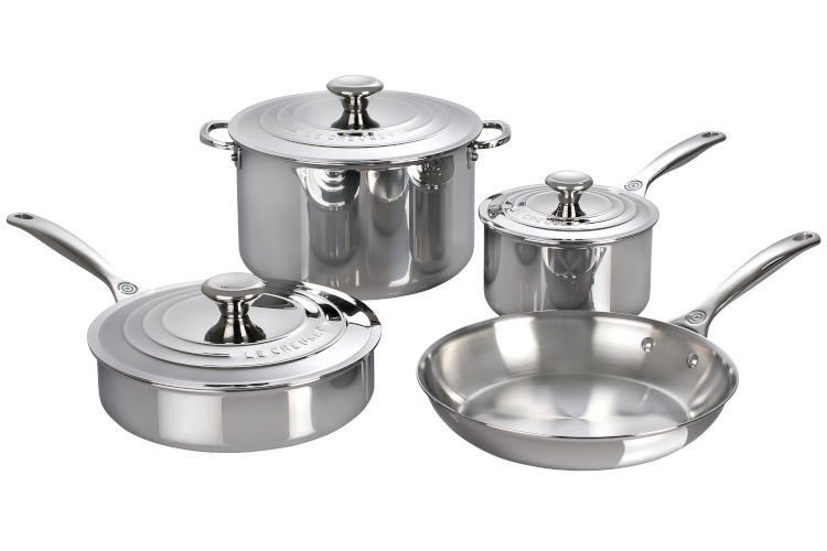 Le Creuset Premium Stainless Steel 7-Piece Cookware Set