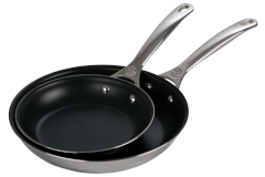 Le Creuset Premium Stainless Steel Nonstick 2-Piece Fry Pan Set