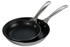 Le Creuset Premium Stainless Steel Nonstick 2-Piece Fry Pan Set