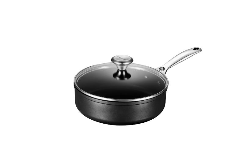 Le Creuset Toughened Nonstick PRO Saute Pans with Glass Lid