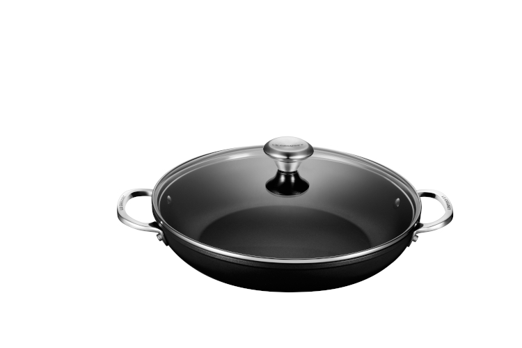 Le Creuset Toughened Nonstick PRO Shallow Casserole/Braiser with Glass Lid