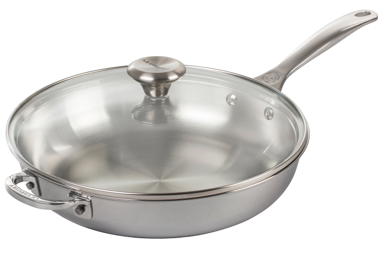 Le Creuset Premium Stainless Steel Everyday Pan with Glass Lid