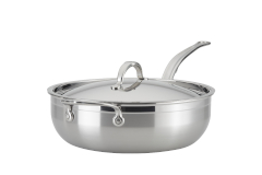 Hestan ProBond Forged Stainless Steel 5 Quart Essential Pan with Lid/Helper Handle