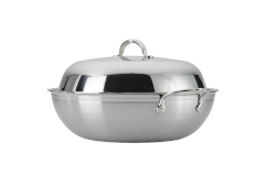 "Hestan ProBond Forged Stainless Steel 14"" Wok with Lid"