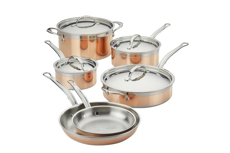 Hestan CopperBond Copper Induction 10-Piece Cookware Set