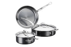 Hestan NanoBond Stainless Steel Essential 5-Piece Cookware Set