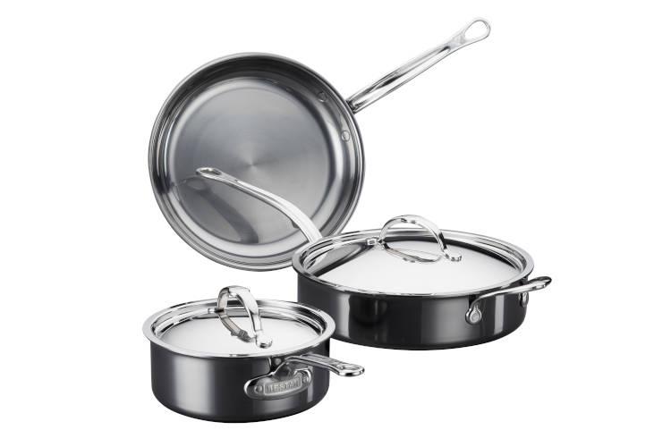 Hestan NanoBond Stainless Steel Essential 5-Piece Cookware Set