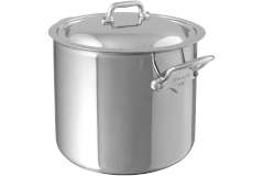 Mauviel M'cook Ferritic Steel 9.7 Quart Stock Pot with Lid