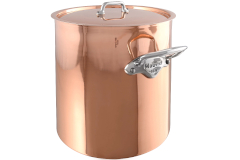 Mauviel M'hertiage M'150s Copper & Tin Lined 11.7 Quart Stock Pot with Lid
