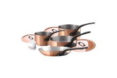 Mauviel M'héritage M'150c2 Copper & Stainless Steel 7-Piece Cookware Set