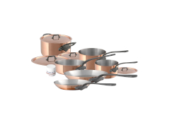 Mauviel M'héritage M'150c2 Copper & Stainless Steel 10-Piece Cookware Set