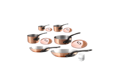 Mauviel M'héritage M'250c Copper & Stainless 10-Piece Cookware Set