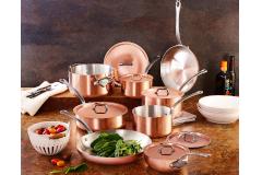 Mauviel M'héritage M'150c2 Copper & Stainless Steel 14-Piece Cookware Set