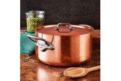 Mauviel M'héritage M'150c2 Copper & Stainless 6.4 Quart Stewpot/Dutch Oven