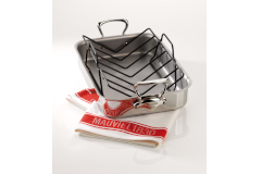 """Mauviel M'cook Stainless Steel 16"""" x 12"""" Roasting Pan"""