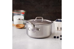 Mauviel M'cook Stainless Steel Saucepans with Stainless Handle