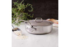 Mauviel M'cook Stainless Steel 3.4 Quart Sauté Pan with Lid