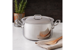 Mauviel M'cook Stainless Steel 6.4 Quart Stew Pot with Lid