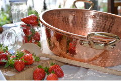Mauviel M'passion Copper Hammered Jam Pans